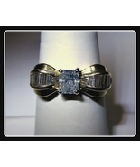 14k Gold Diamond Ring Princess Cut Bow Ring 1.5... - $1,499.99