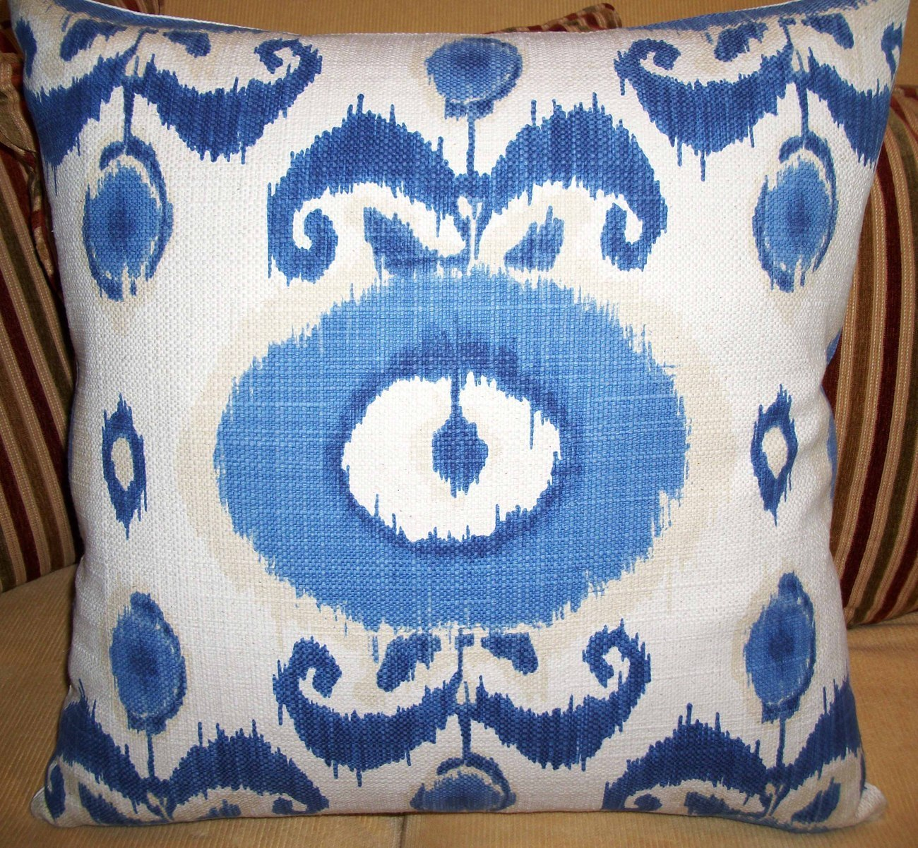 HIGH END IKAT ACCENT PILLOW