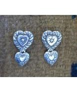 Brighton Double Heart Drop Earrings, New - $19.50