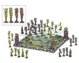 Chess Set legendary Faerie armies ancient kings mythical battle