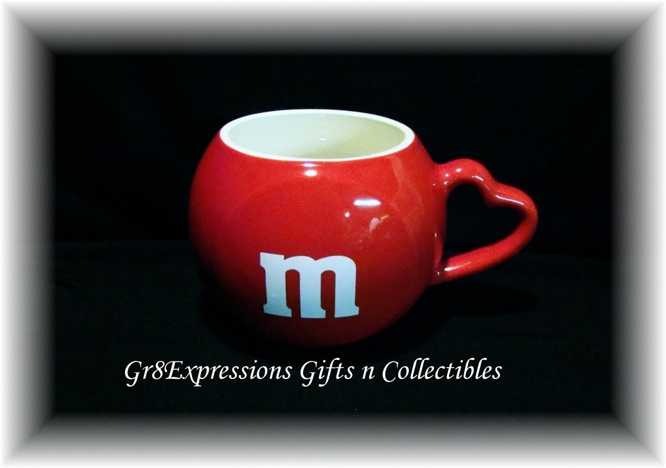 Teleflora M&M Red Mug w Heart Handle 2005