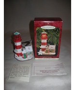 Hallmark 1997 Lighthouse Greetings Series #1 Signed Ornament