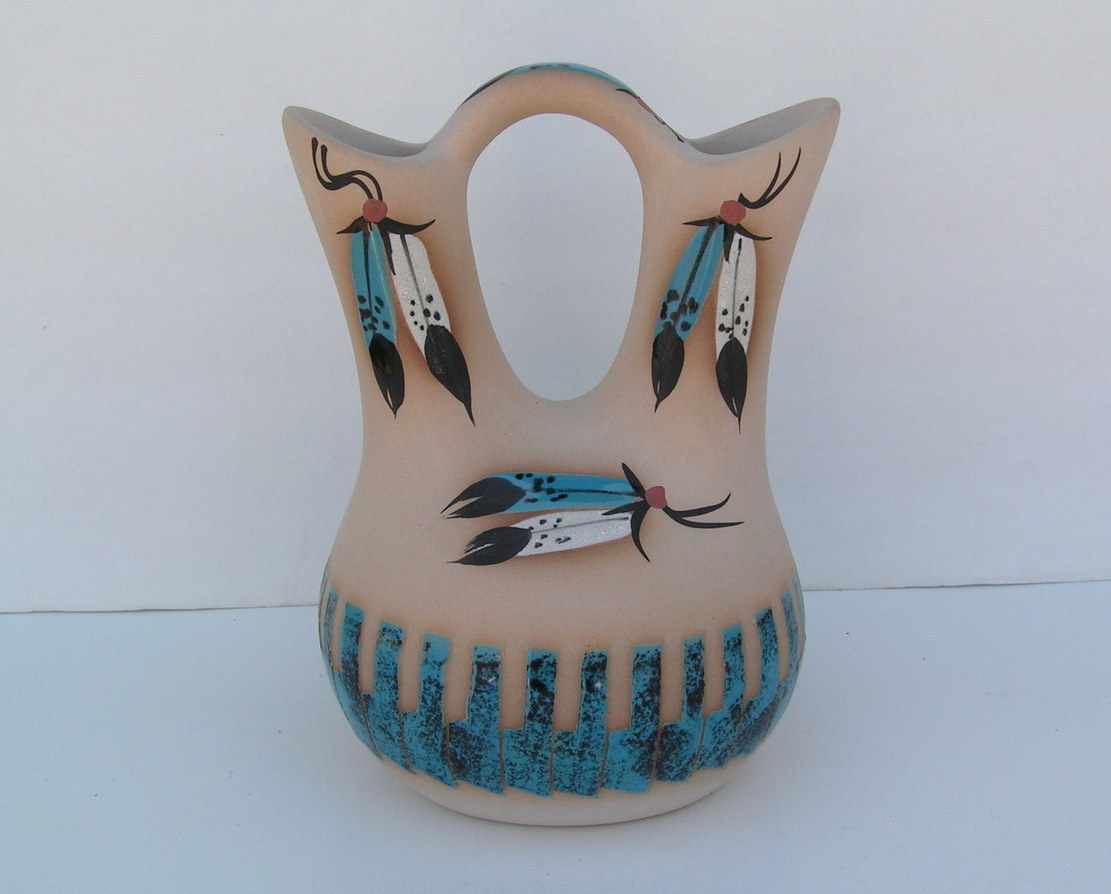 Navajo Lifestyles - WEDDING VASE - CEDAR MESA POTTERY - Native