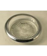 Pressed Glass with Unknown Grade Silver Trim Ri... - $5.00