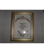 Handmade Paper and Dried Flower Friends Framed ... - $9.95