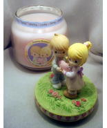 Precious Moments Jar Candle with Topper Wisteri... - $17.99