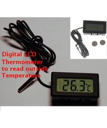 Digital LCD Thermometer with Outdoor Remote Sensor - $3.79