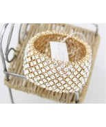Gold Flexible Swarovski Crystal bracelet 3.2cm ... - $77.00