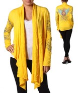 Yellow Open Front Cardigan-Large - $12.99