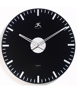 Wall Clock  Black and Mirrored Glass round cont... - $34.99