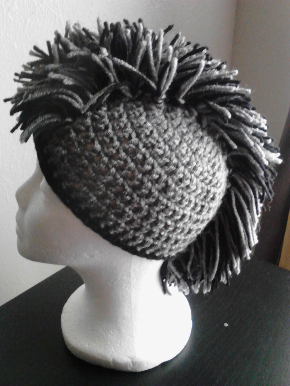 Kids Crochet Mohawk Hat - Caps & Hats