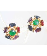 Art Deco 30s Stunning Cut Glass Sterling Earrings - $29.95