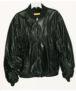 Black Leather Bomber Jacket Lambskin Mens Peter... - $85.00