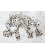 Fabulous JJ Noah's Ark & Animals Brooch Pewtert... - $22.95