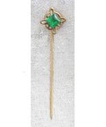 Elegant Antique Victorian Emerald Cut Glass Sti... - $19.95
