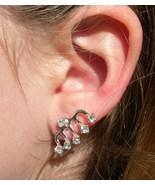 Crystal Sweep Ear Pins Trails up ear Earrings - $6.50
