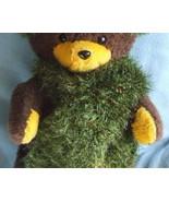 Handknit Neck Scarf Retro Green Eyelash Yarn 6 ... - $7.95