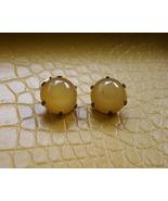 Men vintage yellow round dark metal cufflinks p... - $14.99