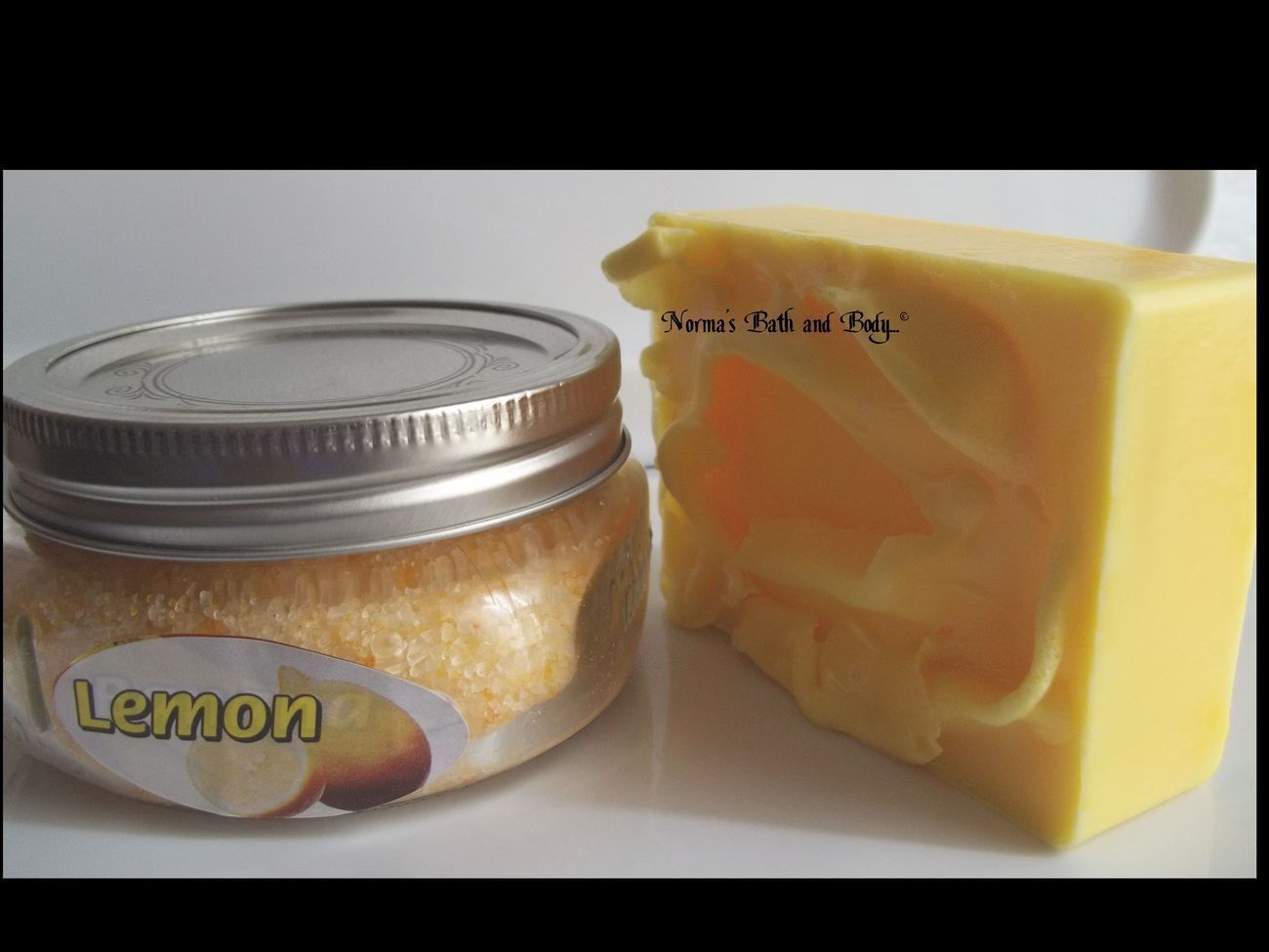 lemon bath and body bath set