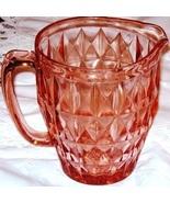 Pink  Depression Glass Jug Pitcher Windsor - $29.99