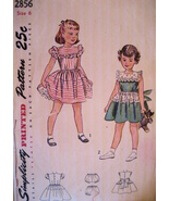 Simplicity 2856 Vintage 40s Girls 6 Flower Girl... - $16.95