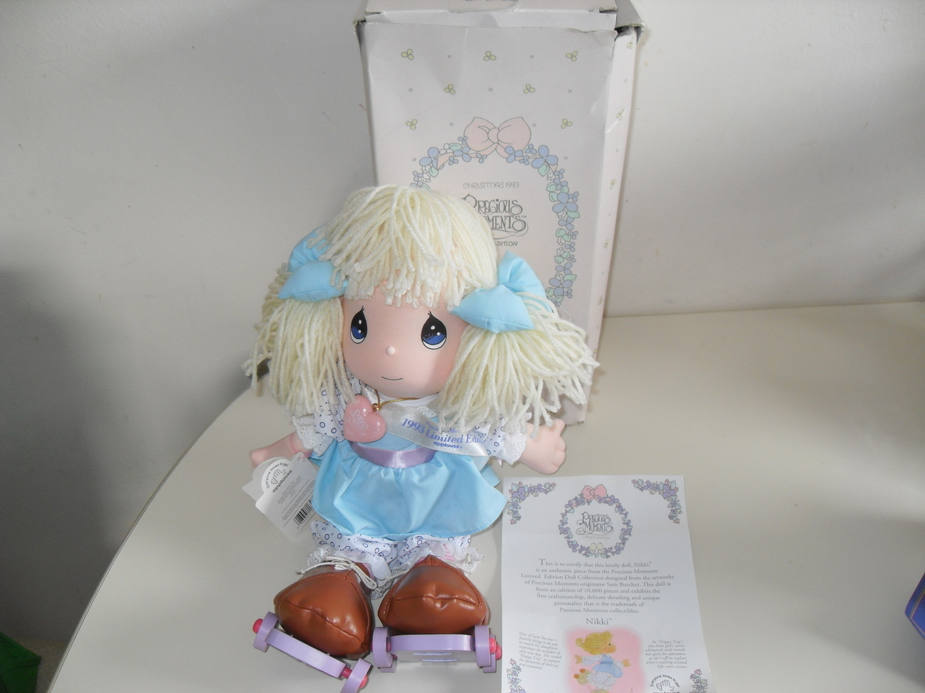 1993 Precious Moments Nikki Doll Limited Edition