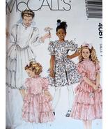 McCalls 4081 Vintage 80s Pattern Girls 7 Jr Bri... - $5.95