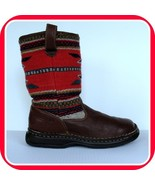 Women BORN Indian Blanket BOOTS 10 42  Leather Southwestern Wool Premium SHOES - $245.99