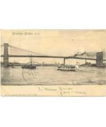 Brooklyn Bridge New York City 1903 Vintage Post... - $6.00