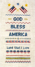 God Bless America  OOP chart Bushmountain Designs - $4.00