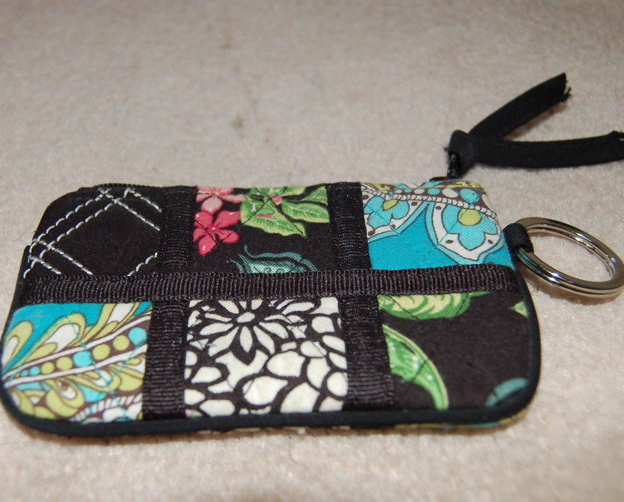 Vera Bradley Coin Purse Key Ring Patchwork Spectator Collection New No Tags