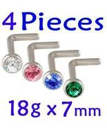 18g~7mm nose rings stud screw bar body jewelry ... - $6.99