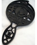 VTG &quot;Trafford Foundry Family Day 1953&quot; Iron Trivet 8-1/4&quot;