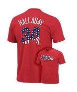 ROY HALLADAY PHILLIES STARS AND STRIPES T-SHIRT... - $14.99