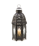 Black Lattice Candle Lantern - $24.00