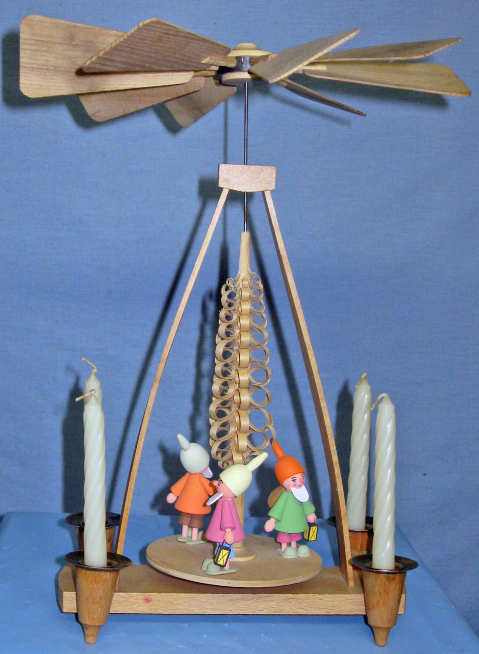 Wood Carousel - Made in E. Germany (c.1970)