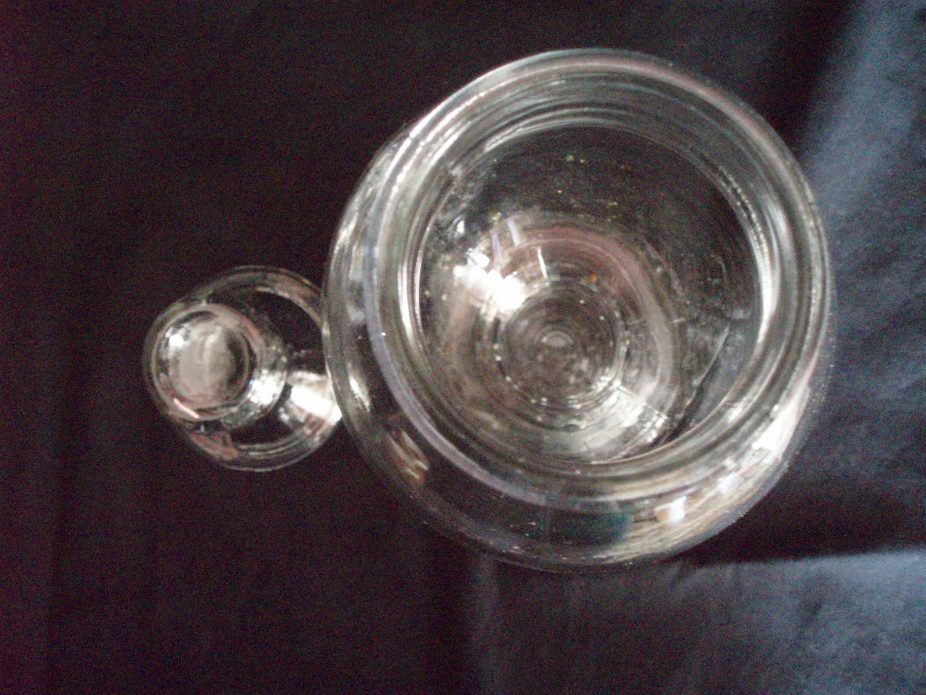 FABULOUS VINTAGE FRENCH GLASS APOTHECARY CANDY JAR FROM