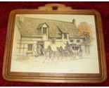 Buy Posters - Horse Drawn Carriage Picture Wall Decor Wood Signed