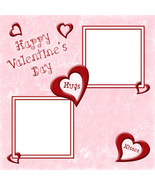 Valentine 3 ~ Digital Scrapbooking Quick Page L... - $3.00