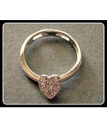 10k White Gold Charm Flip Ring / Pendant Pave D... - $75.00