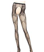 Open Crotch style Bow Pattern Stockings Pentyho... - $5.79