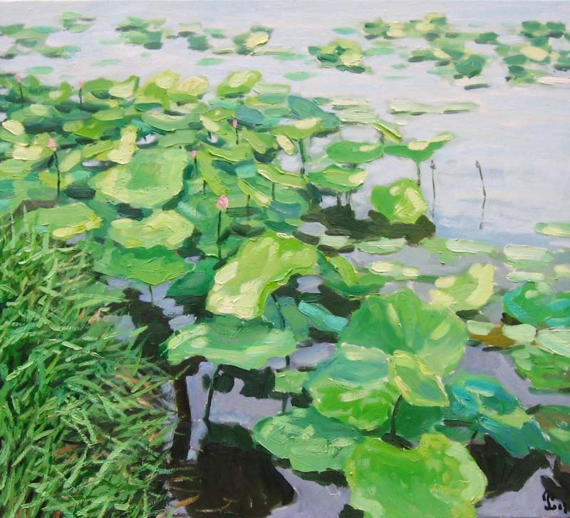 Lotus_pond__90_x_100