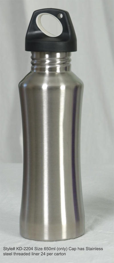 Buy TWO Style #2204 Stainless Steel water Bottle 650ml.