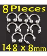 14g Lot Horseshoe Circular Bars Barbell Ring Ga... - $7.20