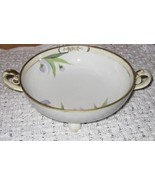 Antique Nippon Footed Bowl with Flowers Gilt Ch... - $57.00