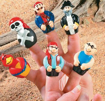 12 PIRATE FINGER PUPPETS Dozen Kids Birthday Party Favors Cake Toppers Toys