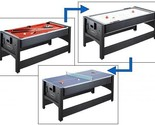 3-in-1 Billiards, Air Hockey, Table Tennis Game Table