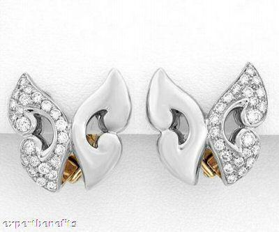 Ladies Estate Bulgari Bvlgari Diamond Platinum Earrings