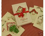 Buy Gift Cards - Vintage Retro Look Hankies Christmas Gift Cards Moda