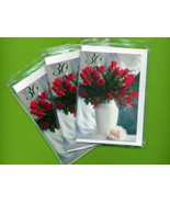 30th Birthday Red Roses. 3 pcs. Small Double Fo... - $5.25